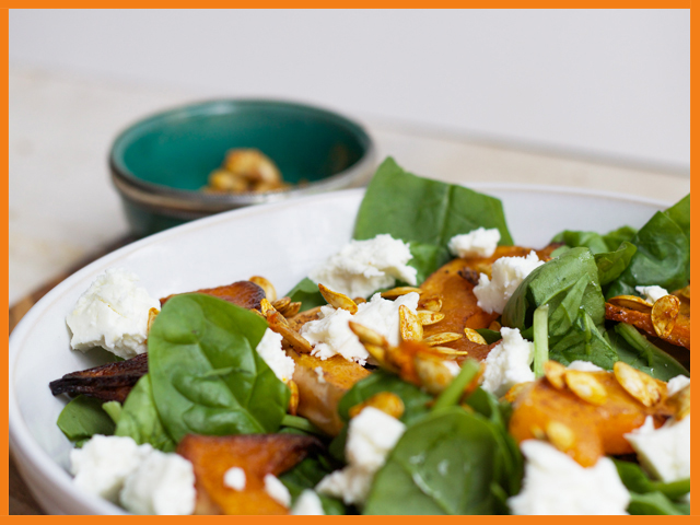 Butternut squash super salad